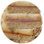 Toasts jambon cuit