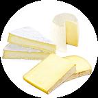 3 fromages : brie, chèvre, comté