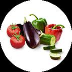 Légumes du soleil (poivrons, aubergines, tomates, courgettes)
