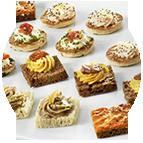 Petits fours, canapés & pains surprise
